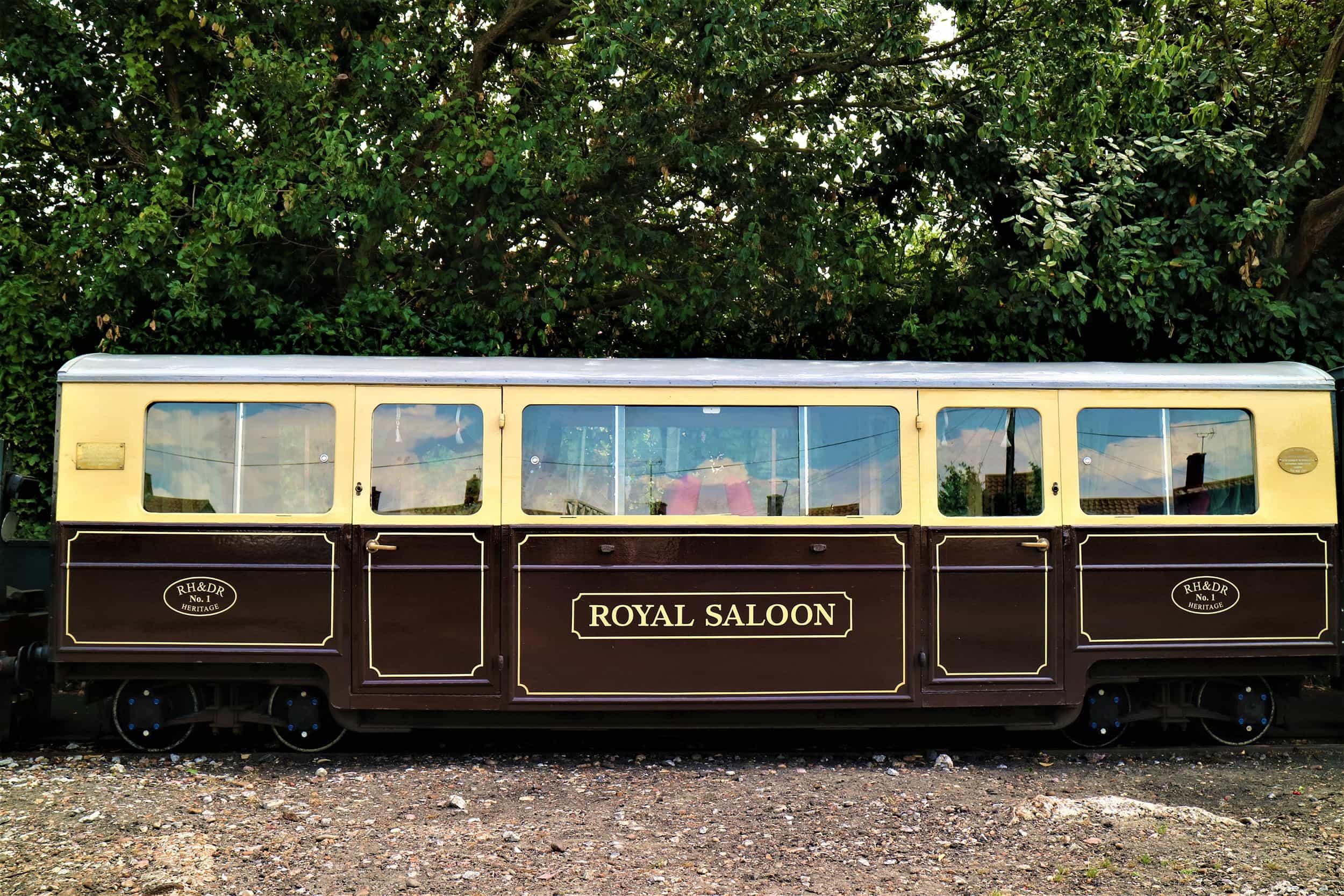 Heritage Carriage - Royal Saloon - Romney, Hythe & Dymchurch Railway