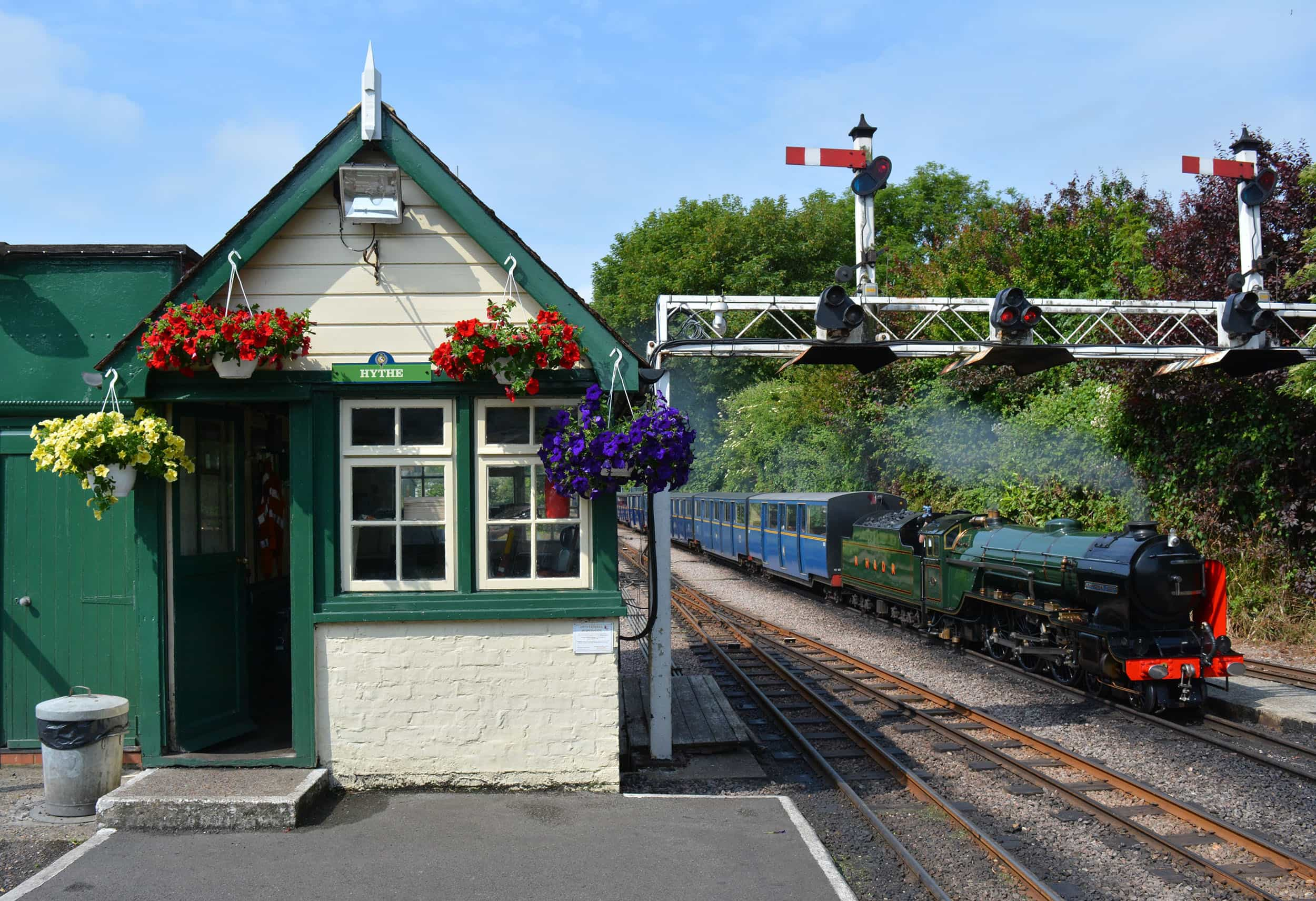 Hythe Station at Romney, Hythe & Dymchurch Railway